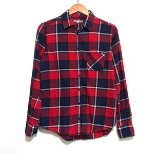 Uniqlo Flannel Red and Blue Plaid